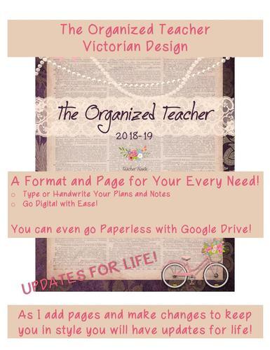 Victorian Teacher Binder