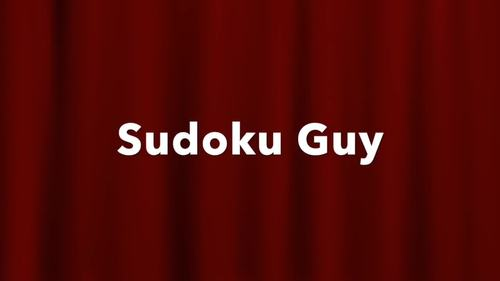 Fun with Sudoku Guy (K-g3 LESSON 4): Combined rows & blocks + puzzles.