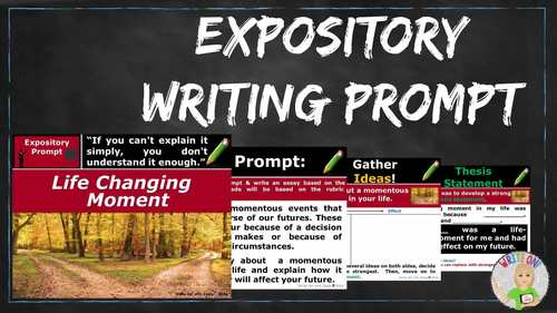 Expository Writing Lesson / Prompt – w/ Digital Resource – Life Changing Moment