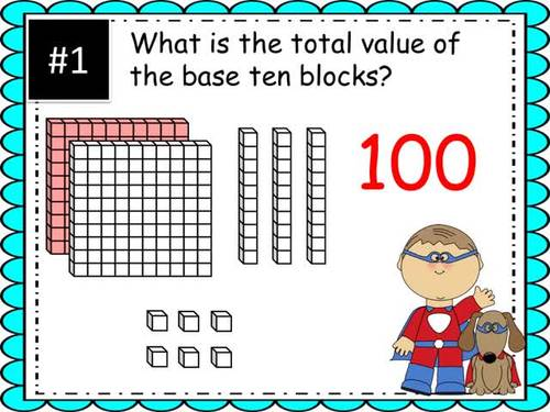 QR Code Task Cards Three Digit Place Value with Video Demonstration