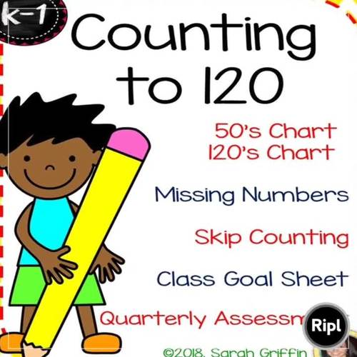Counting to 120 - Math Worksheets - 120s chart