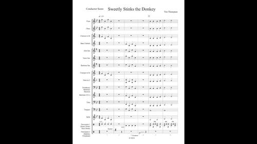 Sweetly Stinks the Donkey - Beginning Band Piece with Audience Participation