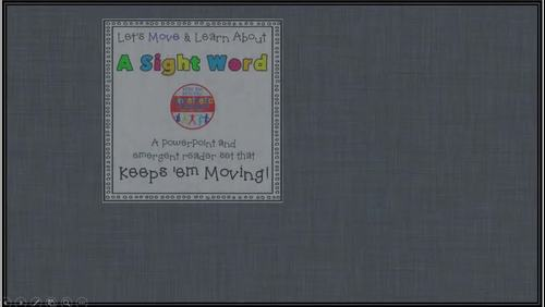 Sight Word Activity - PowerPoint and Emergent Reader for the sight word IN