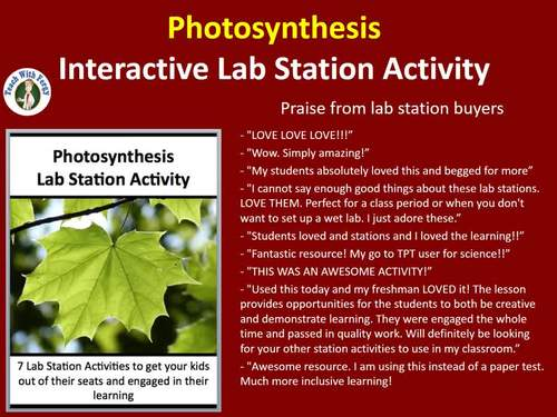 Photosynthesis - 7 Engaging Lab Stations