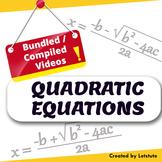 Math  Quadratic Equations (Compiled/Bundled session)