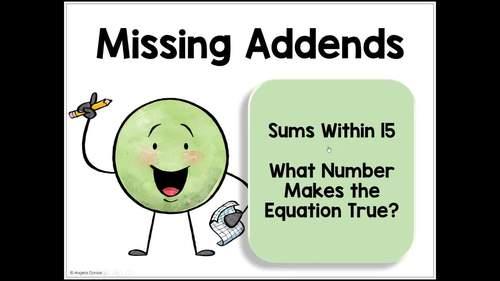 Missing Addends | Missing Subtrahends | Missing Minuends | Digital Task for SpEd