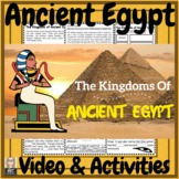 Ancient Egypt The Kingdoms of Egypt Video & Activities Kit!
