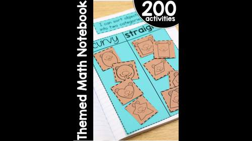Primary K-1 Themed Interactive Math Notebook