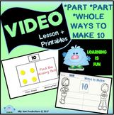 Part Part Whole and Ways to Make 10 VIDEO LESSON & Printables