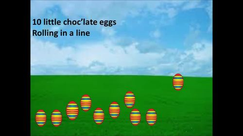 The Chocolate Egg Counting song for young children video