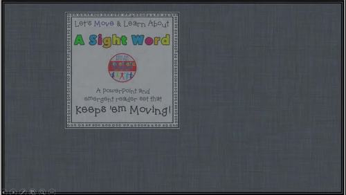 Sight Word Activity - PowerPoint and Emergent Reader for the sight word IF