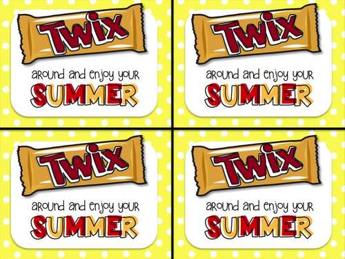 Twix End of Year Gift Tag-Twix around and enjoy your summer!