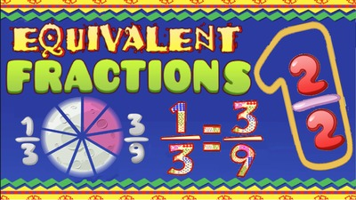 Equivalent Fractions Game, Worksheets and Animated Video ♫♪ by NUMBEROCK