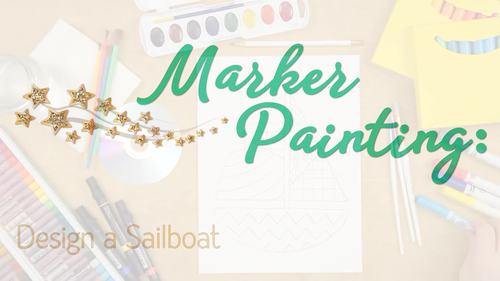 Design a Sailboat Game   Summer Activities and Art Sub Plans for June
