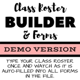 DEMO Class Roster Builder FREE DOWNLOAD