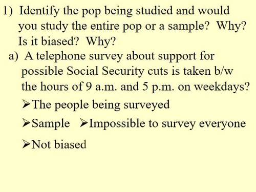 Biased and Unbiased Sampling