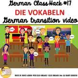 "17_German Class Transition Video "" Vocabulary die Vokabeln"