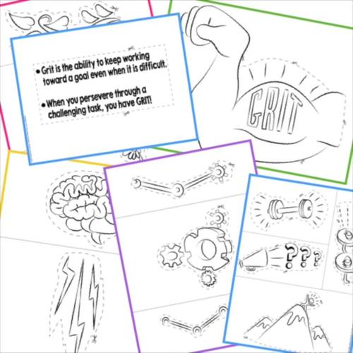 Growth Mindset Anchor Chart Parts - Great Growth Mindset Activity