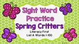 Sight Word Video & Slideshow, Literacy First - List A, Spring