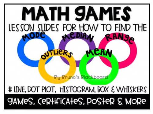 Math Games: Mean, Median, Range, Outliers & Graphs