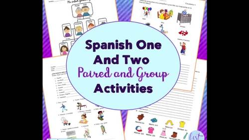 Spanish Two Speaking and Listening Paired and Group Activities for One Year