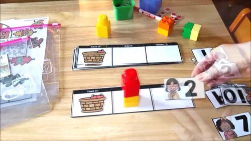 Kindergarten Math & Literacy Activity Centers for the Year BUNDLE