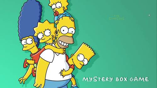 Simpsons Mystery Box PowerPoint Quiz Game (Full A-Z Version)