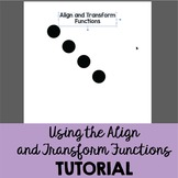 Align and Transform Functions in Illustrator