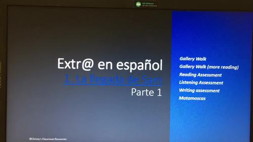 Extr@ Episode 1, Parte 1: Gallery walk, Assessments and Matamoscas