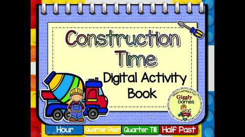 Giggly Games Construction Time Digital Activity Book