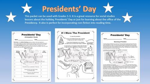 Presidents' Day with Original Poetry, Worksheets and a Game-Board