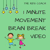 1 Minute Movement Brain Break Video - Just press PLAY!