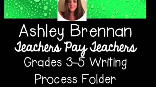 Grades 3-5 The Writing Process Folder, Classroom Posters, and Writing Sheets