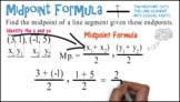 Midpoint Formula (Two Points): Whiteboard Animation
