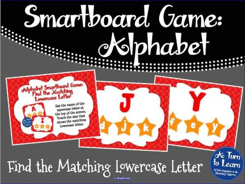 Alphabet Game: Find the Matching Lowercase Letter (Smartboard/Promethean Board)