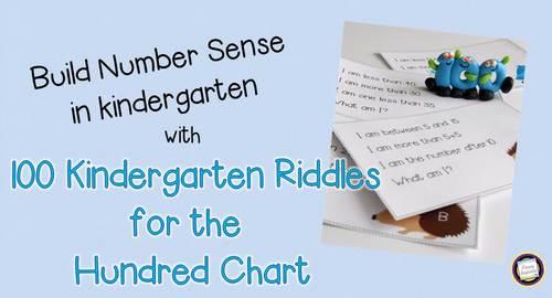 Kindergarten Number Sense Riddles Set 1