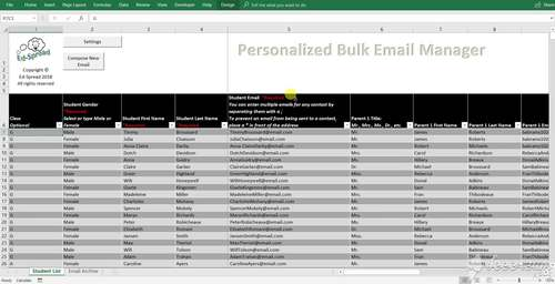 DEMO:  Create and Send Personalized Emails in BULK