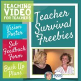 3 Teacher Survival Freebies