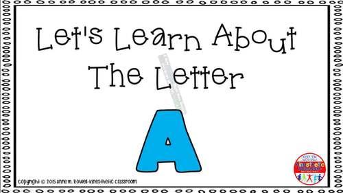 Alphabet Activity - Letter Sounds - Powerpoint: The Letter A