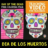 FREE Day of the Dead / Dia de los Muertos Coloring Page