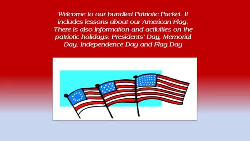 Patriotism Bundle - Includes Patriotic Holidays and The American Flag