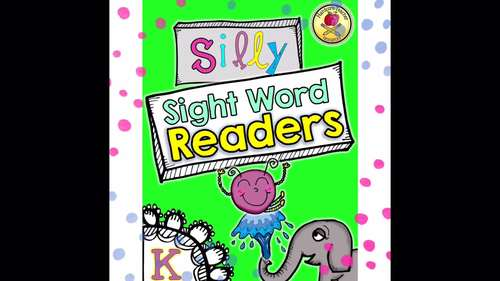 Silly Sight Word Readers Bundle Volume 1 & 2 {50 sight word books}
