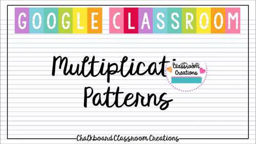 Multiplication for Google Classroom