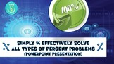 Simply and Effectively Solve All Types of Percent Problems