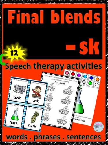 #summer2018 Articulation of final blends -sk ending sounds for speech therapy
