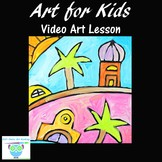 Kid's Art Video Lesson: Draw & Paint a Desert Landscape wi