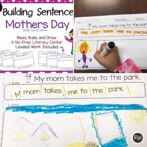Building Sentences ~ Mothers Day