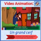 French Immersion - song in video animation - Un grand cerf