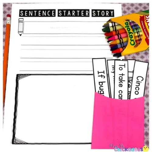A FULL YEAR of Interactive Sentence Starters for Writing