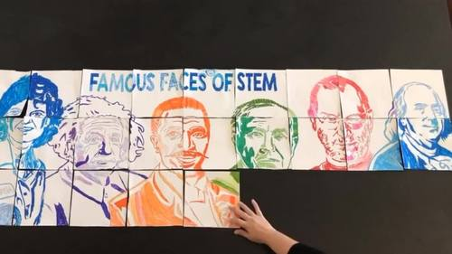 Famous Faces™ of STE(A)M Collaboration Poster - Perfect Back to School Activity